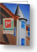 Linen Greeting Cards - St. Marys Liquor Greeting Card by Tim Webster