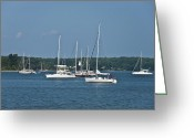 Boats Greeting Cards - St. Marys River Greeting Card by Bill Cannon
