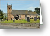 Churchyard Greeting Cards - St Michaels Church at Willington Greeting Card by Rod Johnson