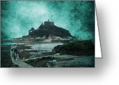 Traffic Greeting Cards - St Michaels Mount Greeting Card by Svetlana Sewell