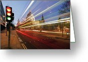 Paul Photo Greeting Cards - St Pauls Cathedral At Night Greeting Card by Ray Wise