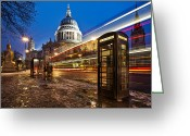 Long Street Greeting Cards - St Pauls Cathedral Greeting Card by Olly Plumstead
