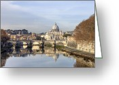 Vatican City Greeting Cards - St. Peters Basilica Greeting Card by Joana Kruse