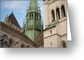 12th Century Greeting Cards - St. Peters Cathedral Of Geneve Greeting Card by Greg Dale
