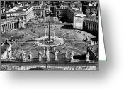 Vatican City Greeting Cards - St. Peters Square Greeting Card by John Rizzuto