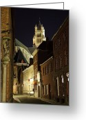 Medieval Architecture Greeting Cards - St Saviour Cathedral  Greeting Card by Adam Romanowicz