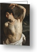 1856 Greeting Cards - St. Sebastian Greeting Card by Hippolyte Paul Delaroche