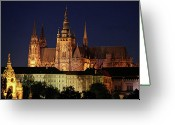 Karluv Most Greeting Cards - St. Vitus Cathedral Greeting Card by Mariola Bitner