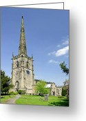 Church Greeting Cards - St Wystans Church - Repton Greeting Card by Rod Johnson