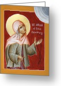 Julia Bridget Hayes Greeting Cards - St Xenia of St Petersburg Greeting Card by Julia Bridget Hayes