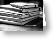 Office Greeting Cards - Stack Of Notebooks Greeting Card by FOTOGRAFIE melaniejoos