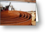 Wooden Bowls Greeting Cards - Stack of Wooden Bowls Greeting Card by Jetta Productions, Inc