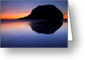 Sunset Greeting Cards - Stack Reflections Greeting Card by Mike  Dawson