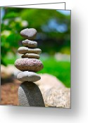 Inuksuk Greeting Cards - Stacked  Greeting Card by Art Kardashian