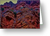Geologic Formations Greeting Cards - Stacked Rock Greeting Card by Helen Carson
