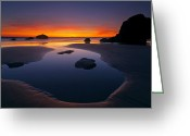 Oregon Photo Greeting Cards - Stacks and Stones Greeting Card by Mike  Dawson
