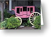 Wheels Greeting Cards - Stage Couch Salado Texas Greeting Card by Linda Phelps