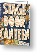 Motion Picture Greeting Cards - Stage Door Canteen Greeting Card by Nomad Art and  Design