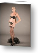 Garter Belt Greeting Cards - Stage Presence Greeting Card by N Taylor