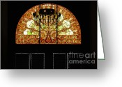 Nashville Greeting Cards - Stained Glass in the Trainstation Nashville Greeting Card by Susanne Van Hulst