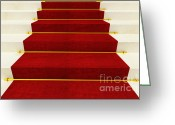 Award Greeting Cards - Stair And Red Carpet Greeting Card by Gualtiero Boffi