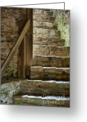 Staircase Greeting Cards - Stair Light Greeting Card by John Greim