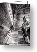 Work Lamp Greeting Cards - Stairs of the Past Greeting Card by CJ Schmit