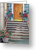 Sketchbook Greeting Cards - Stairs Sketchbook Project Down My Street Greeting Card by Irina Sztukowski