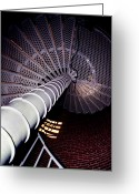 Cape May Nj Photo Greeting Cards - Stairs To The Light Greeting Card by Skip Willits