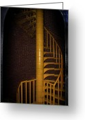 Long Beach Island Photos Greeting Cards - Stairs To The Top Greeting Card by Skip Willits