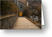 Incline Greeting Cards - Stairway  Greeting Card by Andrew  Michael