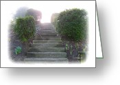 Incline Digital Art Greeting Cards - Stairway To A New Beginning Greeting Card by Brian Wallace
