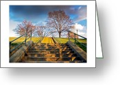 2d Greeting Cards - Stairway To Federal Hill Greeting Card by Brian Wallace