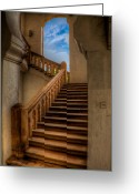 Banister Greeting Cards - Stairway to Heaven Greeting Card by Adrian Evans