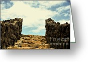 Sacred Photo Greeting Cards - Stairway to Heaven Greeting Card by Cheryl Young