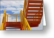 Skiphunt Greeting Cards - Stairway to Heaven Greeting Card by Skip Hunt