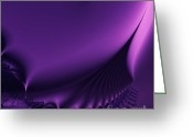Mandelbrot Greeting Cards - Stairway To Heaven . Square . S18 Greeting Card by Wingsdomain Art and Photography