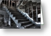 Dreary Greeting Cards - Stairway to Ruin Greeting Card by Andrew Pacheco