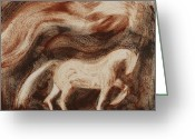 Soot Greeting Cards - Stallion Greeting Card by Sophy White