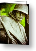 Veteran Photography Greeting Cards - Stalwart Soldier Greeting Card by Christi Kraft