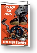 Second Greeting Cards - Stamp Em Out Beat Your Promise Greeting Card by War Is Hell Store
