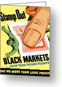 Second Greeting Cards - Stamp Out Black Markets Greeting Card by War Is Hell Store
