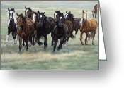 Barn Greeting Cards - Stampede Greeting Card by JQ Licensing