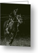 Horse Show Greeting Cards - Stand Out Glowing Duo Greeting Card by Karol  Livote