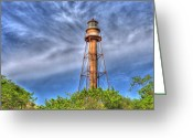 Transportation Tapestries - Textiles Greeting Cards - Standing Above the Trees Greeting Card by Sean Allen