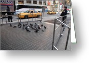 New York Cops Greeting Cards - Standing Guard Greeting Card by Rob Hans