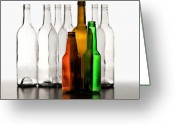 Wine Bottle Greeting Cards - Standing in Front Greeting Card by Joe Bonita
