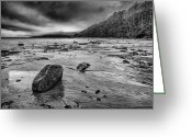 On The Beach Greeting Cards - Standing still Greeting Card by John Farnan