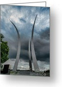 Arlington Memorial Bridge Greeting Cards - Standing Strong Greeting Card by Jim Moore