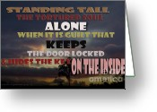 Ptsd Greeting Cards - Standing Tall Alone Greeting Card by Vicki Ferrari Photography